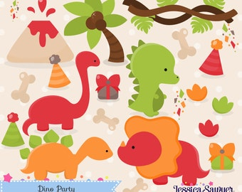 INSTANT DOWNLOAD -Dinosaur Clipart and Christmas Vectors for personal and commercial use
