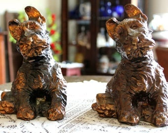 Pair of Antique McClelland Barclay  Scottie Bookends