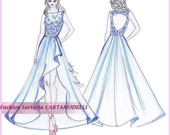 Evening dress Pattern Size 10