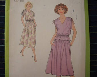 vintage 1970s Simplicity sewing pattern 8893 misses pullover dress or two piece dress size 20 1/2 UNCUT