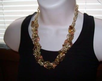 SALE bead necklace, beaded necklace, statement necklace, hippie, boho, estate jewelry