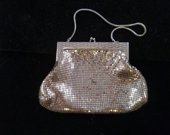 Whiting and Davis Silver Mesh Purse, Excellent Condition