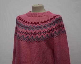 Heavy Pink 1970s Womens Knitwear (DOWN FROM 19.99)