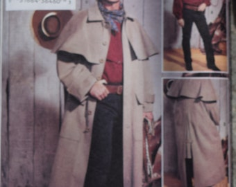 Butterick 3830 Drover's Coat / Duster XS-S-M - FREE SHIPPING