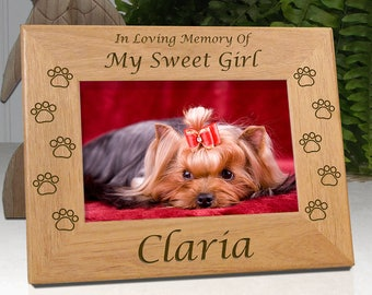 Personalized Pet Frame - In Loving Memory Of My Sweet Girl... or... In Loving Memory Of Our Sweet Girl