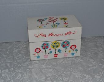 Vintage Recipe Box ~  Tin Litho ~ J Chen  ~ Kitchen Storage ~ Epsteam