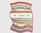 personalized blanket   knitted baby blanket   custom blanket   baby shower gift   name blanket   striped baby blanket