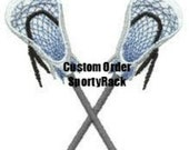 2 Custom Lacrosse Theme 6 Stick Holders