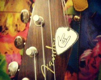 Ukulele Accessories- rock n roll sign - guitar Accessories-instrument jewelry- custom charm