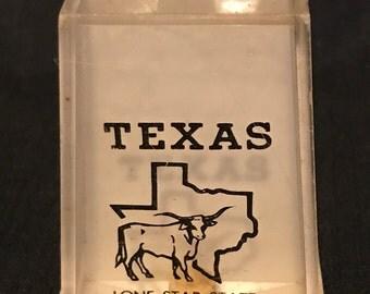 Salt and Pepper Texas Rustic Salt and Pepper Mill Souvenier Western Salt and Pepper Shakers
