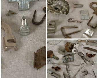 Steampunk Supply Scrap Metal 82 Pieces  Mixed Media Altered Art Vintage Hardware