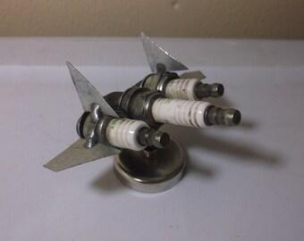 Blackbird Jet Bomber Spark Plug Magnet