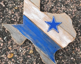 "Dallas cowboys Texas wood cut out 15"""
