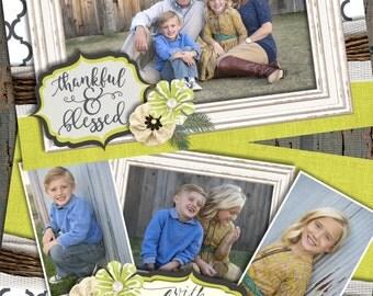 Christmas Cards, Lattice Christmas Cards, Shabby Chic Christmas Cards, Photo Christmas Cards