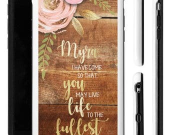 Scripture iPhone Case, iPhone Case, Shabby Chic, Religious iPhone Case, Personalized iPhone Case, Custom iPhone Case, Christian iPhone Case