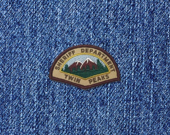 Sheriff Department iron-on replica fan patch Cooper Audrey Laura Palmer Damn Fine Coffee Owl 90s tv-show