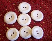 Vintage White Buttons, Raised Dot Design, 2 Sizes Matching Sets  (933)