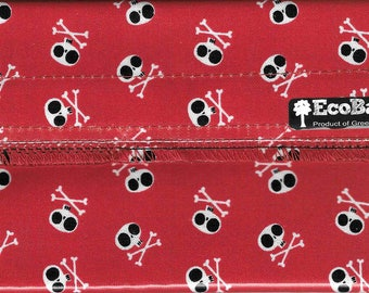 EcoBagIt! SKULLS & CROSSBONES Keep Fresh Reusable Snack Bag