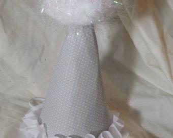Grey & White Birthday Hat