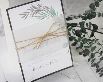 Olive Branch Invitations   Tuscan Wedding Invitations   Vineyard Wedding    Twine Wedding Invitations   Rustic