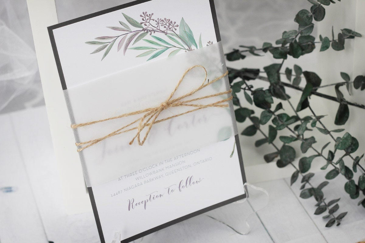 Tuscan Themed Wedding Invitations: Olive Branch Invitations Tuscan Wedding Invitations