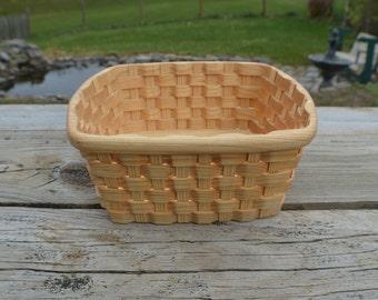 Napkin holder basket Hickory wood