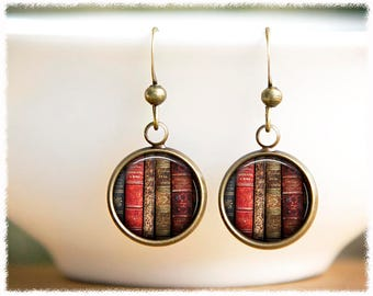 Book Lover Gift • Book Earrings • Gifts For Readers • Vintage Book Jewelry • Literary Gift • Librarian Gift