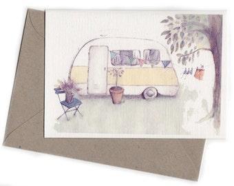 Vintage caravan Card