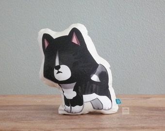Akita Inu Pillow (Black Brindle)