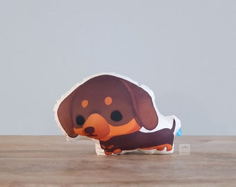 Dachshund Pillow (Chocolate and Cream Doxie)