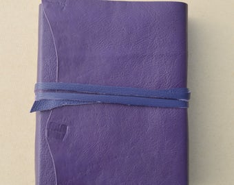 Personalized Purple Leather Journal Handmade Hand Lined Diary  Poetry Lady Notebook Ledger Engraved Leather Custom Printing (623C)
