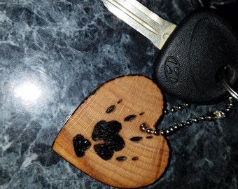 Guinea Pig Paw Print Key Chain