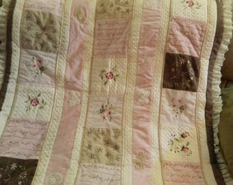 Rose and Brown Quilt