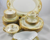RESERVED for Chuck -  Batista Noritake # 601, 33 pieces fine China, 1933 Issue, Morimura,  Made in Japan,