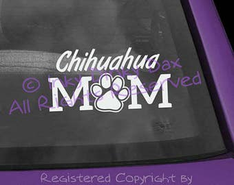 Chihuahua Mom Pawprint Decal