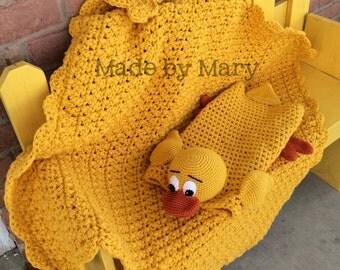 PDF Pattern: Duck Blanket Buddy **Crochet Pattern Only, Not actual blanket**