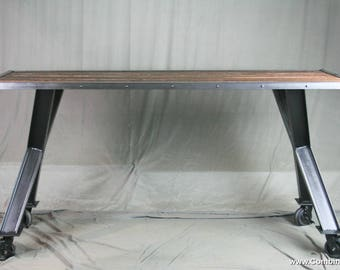 Industrial Table. Modern Dining Table. Vintage Industrial Desk. Modern  Office Furniture. Reclaimed