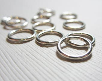 10mm Sterling Silver Jump Ring (12 Pieces)