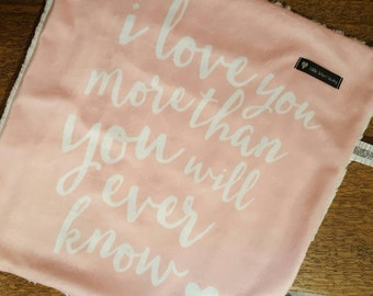 Baby pink Quote Minky Silky, Baby Girl silky, Pink faux fur silky, Minky silky