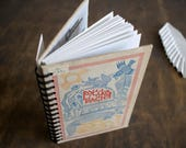 """Recycled Book Journal Tartuensis College """"Fables"""", Vintage Spiral Notebook"""