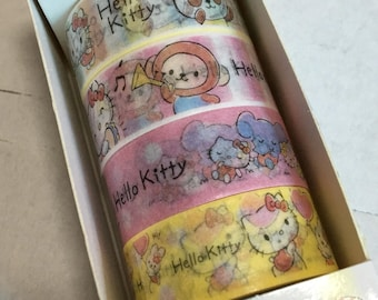 A Set 4 Rolls of Hello Kitty Washi Tape
