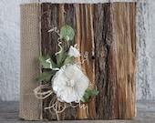 Wedding rustic album/Wood wedding rustic lace, burlap album/Rustic 4x6 photo wedding album/Keepsake album/Wedding gift/Christmas gift