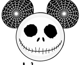 Custom Personalized Jack Skellington Nightmare before chirstmas  Mickey Head Iron on Transfer Decal(iron on transfer, not digital download)