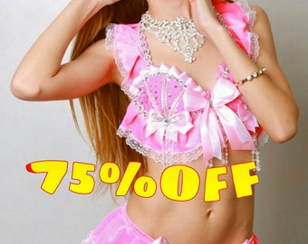 Barbie Doll sexy baby pink rave edm festival costume