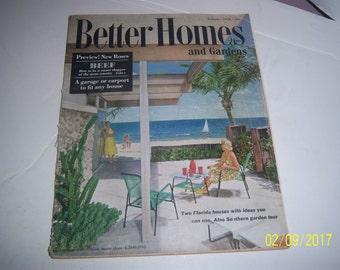 February 1958 Better Homes & Garden Magazine Florida Beach Resort Paper Ephemera