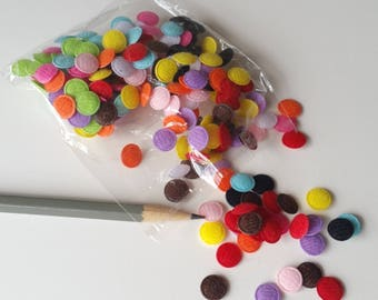 Fabric dots 10mm