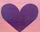 My Full Heart - Purple and Pink