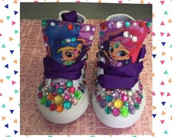 Shimmer and Shine*Shimmer n' Shine High Tops* Shimmer Shine Shoes *Shimmer n' Shine Sneakers*Smimmern' Shine Kicks*Shimmer and Shine Chucks*