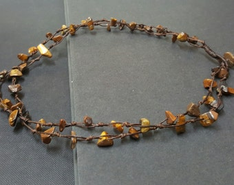 Double Strand  Tiger Eye Necklace