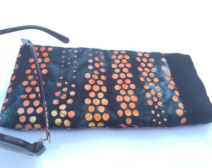 Pinch Open Sunglass Case, Padded Glasses Case, Easy Open/Close Sunglasses Case, Black and Colorful